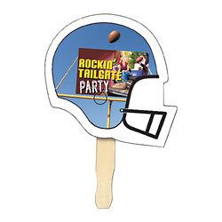 Customized Full Color Football Helmet Hand Fan