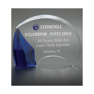 Customized Laser Engraved Glass Carlisle Award Trophies