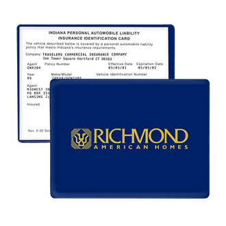 Customized Auto Insurance Card Keeper