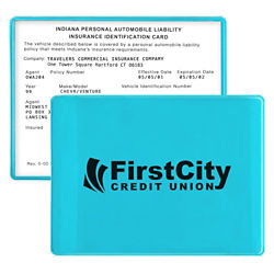 Customized Translucent Insurance Card Case