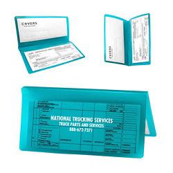 Customized Bi-Fold Valuable Documents Holder - Translucent
