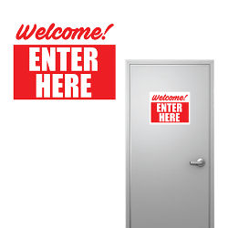 Customized 8''x10'' Welcome Enter Here Sign