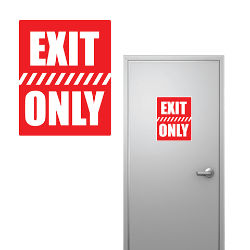Customized 8''x10'' Exit Only Sign