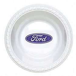 Customized 12 oz. Premium White Plastic Bowl