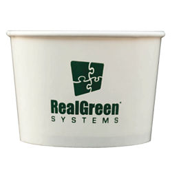 Customized 16 oz. Paper Food Container with Flat Lid