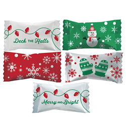 Customized Buttermints in Holiday Wrapper