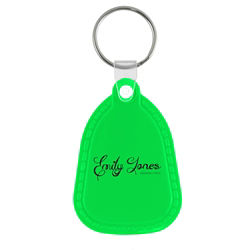 Customized Saddle Up Key Tag with Embossed Side Stitching