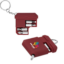 Customized Full Colour Inkjet Fay Multi-Bit Screwdriver Keychain