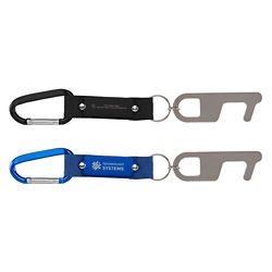 Customized Carabiner Elite Keychain with Touchless Tool