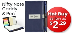 Promotional Nifty Note Caddy and Pen