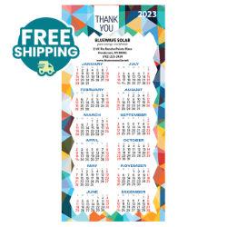 Customized Britebrand™ Deluxe No. 10 Envelope Sized Calendar Magnet