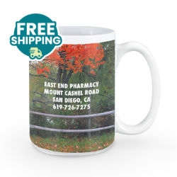 Customized Britebrand™ 15 oz. Adel White Ceramic Mug