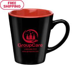 Customized 12 oz. Two-Tone Onda Ceramic Latte Mug