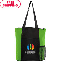 Customized Britebrand™ Fun Tote Bag with Front Pocket
