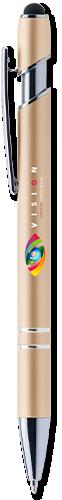 Matte Metallic Alpha Soft Touch Pen with Stylus