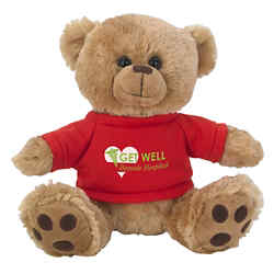 Customized Plush Big Paw Bear with Shirt