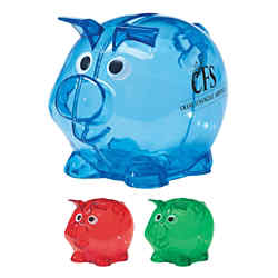 Customized Mini Plastic Piggy Bank