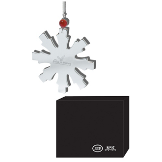 Customized Glistening Snowflake