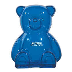 Customized Plastic Bear Shape Bank