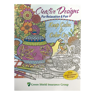 Customized Creative Designs Adult Colouring Book