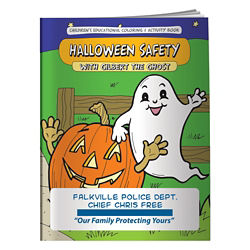 Customized Coloring Book-Halloween Safety