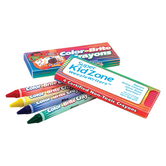 Customized Colour Brite 4 Pack Crayons