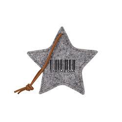Customized Recycled Felt Star Ornament