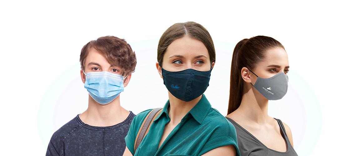 Custom Logo Face Masks Hero