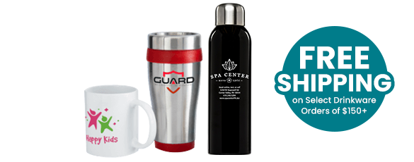 Custom Drinkware Hero of Logo Mug, Tumbler & Bottle