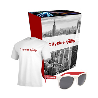 Customized Delta® TShirt & Sunglasses Combo Set w/ Custom Box