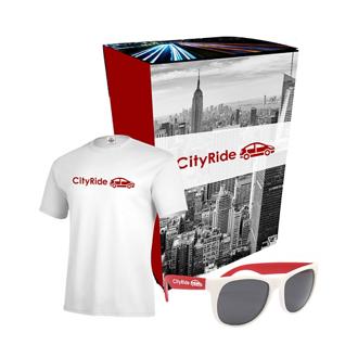Customized Delta® TShirt & Sunglasses Combo Set w/ Custom Box
