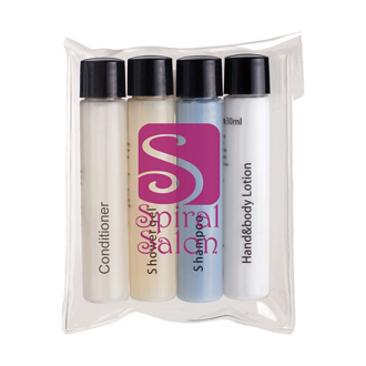 Customized 4 Piece Travel Amenities Kit