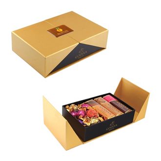 Customized Golden Box of Godiva Sweets
