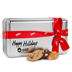 Customized Mrs. Fields® Holiday Variety Cookie Tin