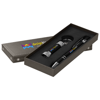Customized Full Color Inkjet Exectuive Alpha Pen & Flashlight Gift Set