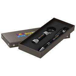 Customized Full Colour Inkjet Executive Alpha Pen & Flashlight Gift Set