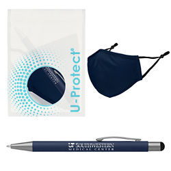 Customized Arlington Stylus Pen & Mask with Antimicrobial Additive & U-Protect™ Bag