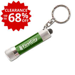 Customized Vibrant 3 LED Flashlight Key Ring
