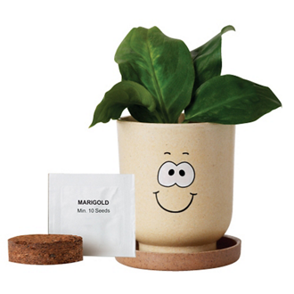 Customized Goofy® Eco-Planter with Marigold Seeds