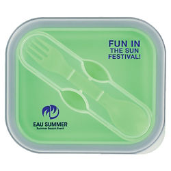 Customized Collapsible Food Container with Dual Utensil