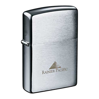 Customized Zippo® Windproof Lighter Brush Chrome