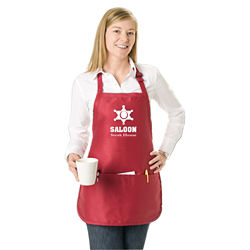 Customized Colored Med Length Apron with Pouch