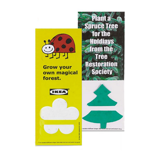 Customized Plant-a-Shape Bookmark