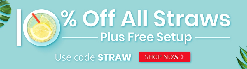 Save 10% Off Straws with Promo Code STRAW