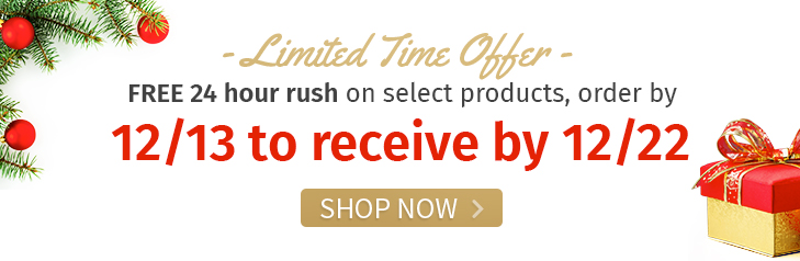 Select Products - Order by 12/13 to receive by 12/22. Shop Now!