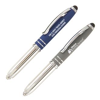 Customized Soft Touch Sky Light Stylus Pen