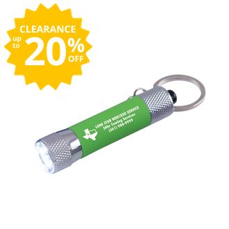 Customized Bright Soft Touch 3 LED Flashlight Key Chain