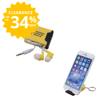 Customized Earbuds and Phone Stand Duet