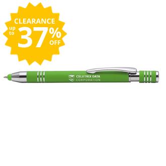 Customized Bright Soft Touch Maya Stylus Pen - Mirror Imprint