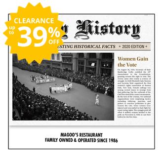 Customized 2019 Daily History Wall Calendar